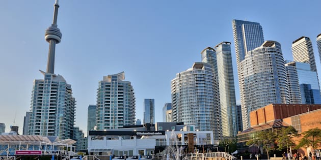 The CN Tower and condominium buildings along the waterfront in Toronto. The city's housing market had a weak start to the year, but is forecast to be stable in 2019.