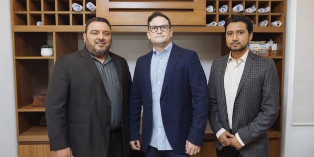 Los creadores Miguel Aguayo, Octavio González y Miguel Granja.
