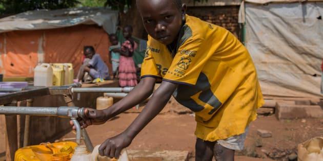 Campo de refugiados de La Catedral, en Wau (Sudán del Sur), donde se ha instalado una canalización de agua limpia.