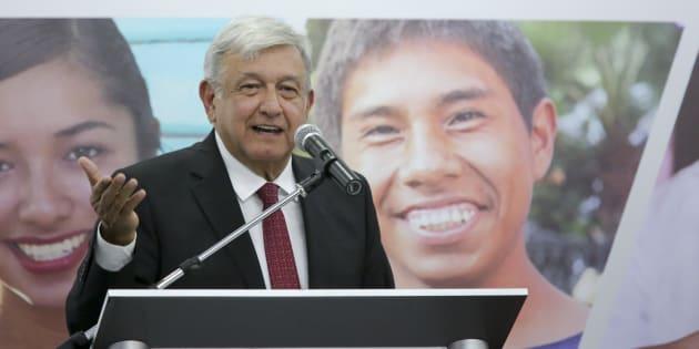 El presidente electo, Andrés Manuel López Obrador, presentó el programa Jóvenes Construyendo el Futuro, en Ciudad de México, el 13 de septiembre de 2018.