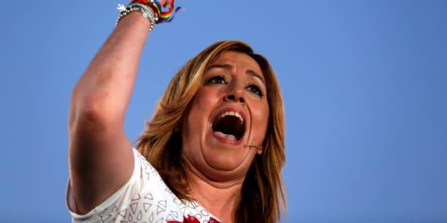 Susana Diaz, presidenta de la Junta de Andalucía, durante un acto en Sevilla en las elecciones generales de 2016.