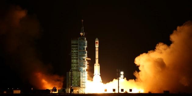 天宮2号。2016年9月15日、中国。