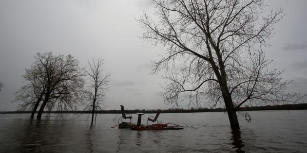 Photo d'archives des inondations qui ont eu lieu à Gatineau en 2017.