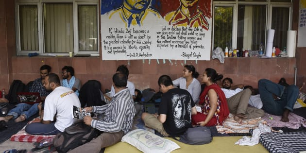JNU students on day six of hunger strike.