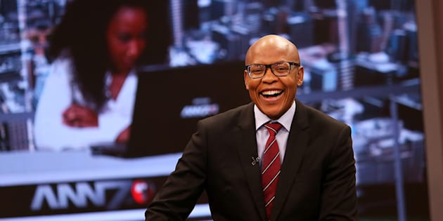 The New Age and ANN7 proprietor Mzwanele Manyi during the announcement on the shareholding of his company Lodidox on August 30, 2017 in Johannesburg, South Africa. During the live television broadcast, Manyi revealed that he was the sole shareholder in Lodidox  the shelf company he bought.