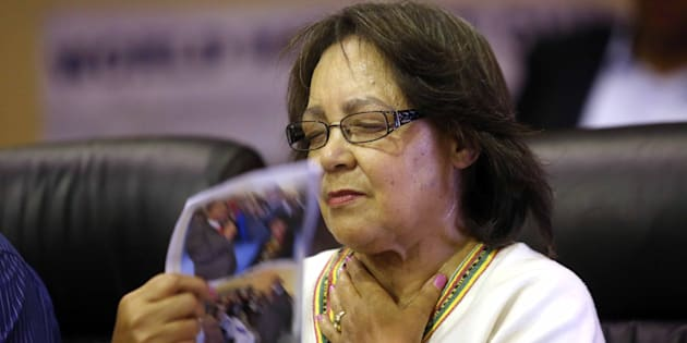 City of Cape Town mayor Patricia de Lille during a service to pray for her at World Harvest Ministries on January 14, 2018 in Langa, South Africa. De Lille received a hero's welcome as the DA federal executive met elsewhere in Cape Town to discuss her future.