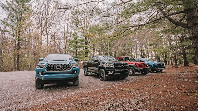 Comparison review: Toyota Tacoma, Ford Ranger, Jeep