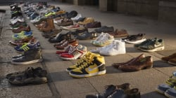 Shoes Were Lined Up Around The World To Show The Devastating Costs Of