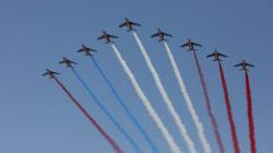 Une erreur de couleur se glisse dans le défilé aérien du 14 juillet en