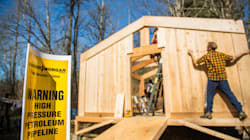 Pipeline Opponents Build Coast Salish 'Watch House' In