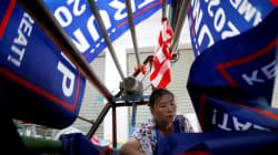 Trump fait faire ses drapeaux de réélection... en
