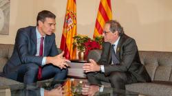 Torra entregó a Sánchez una propuesta de 21 puntos con una petición de mediación