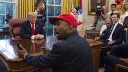 Kanye West se desata en una surrealista reunión con su