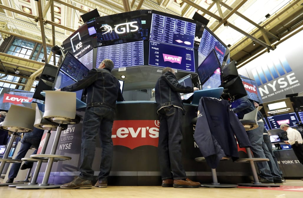 Levi Strauss shares surge 31 percent in return to stock