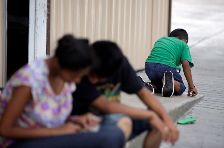 Menores salvadoreños en un albergue en Reynosa, Tamaulipas.