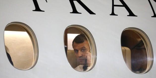 Macron prend le Falcon pour 100km