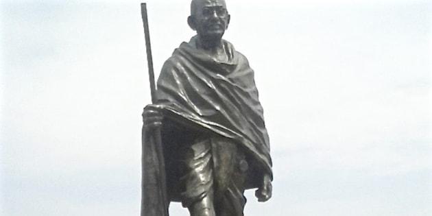 Mahatma Gandhi's statue at the University of Ghana.