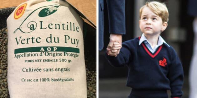 Quand le prince George dope les ventes de lentilles du Puy en Angleterre