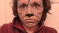 Cette femme a passé tout le mois d'octobre à se maquiller en monstre