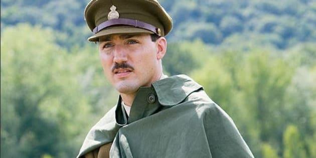 Justin Trudeau a  joué dans un film pour commémorer la Bataille de Vimy.