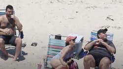 Critican a gobernador de Nueva Jersey por tomar el sol en una playa