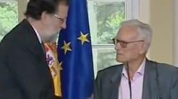 La emoción del sindicalista Joaquín Navarro al reclamar a Rajoy mejoras para los