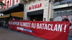 Génération Identitaire devant le Bataclan pour protester contre le concert de