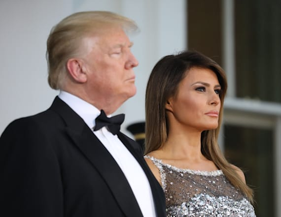 Trump praises Melania after state dinner