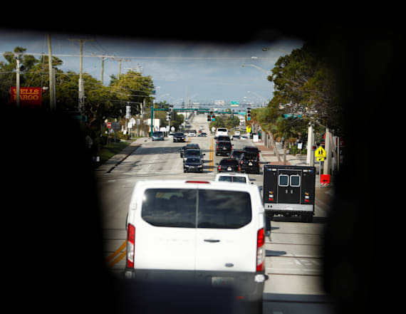 Driver of van joining Trump's motorcade had a gun
