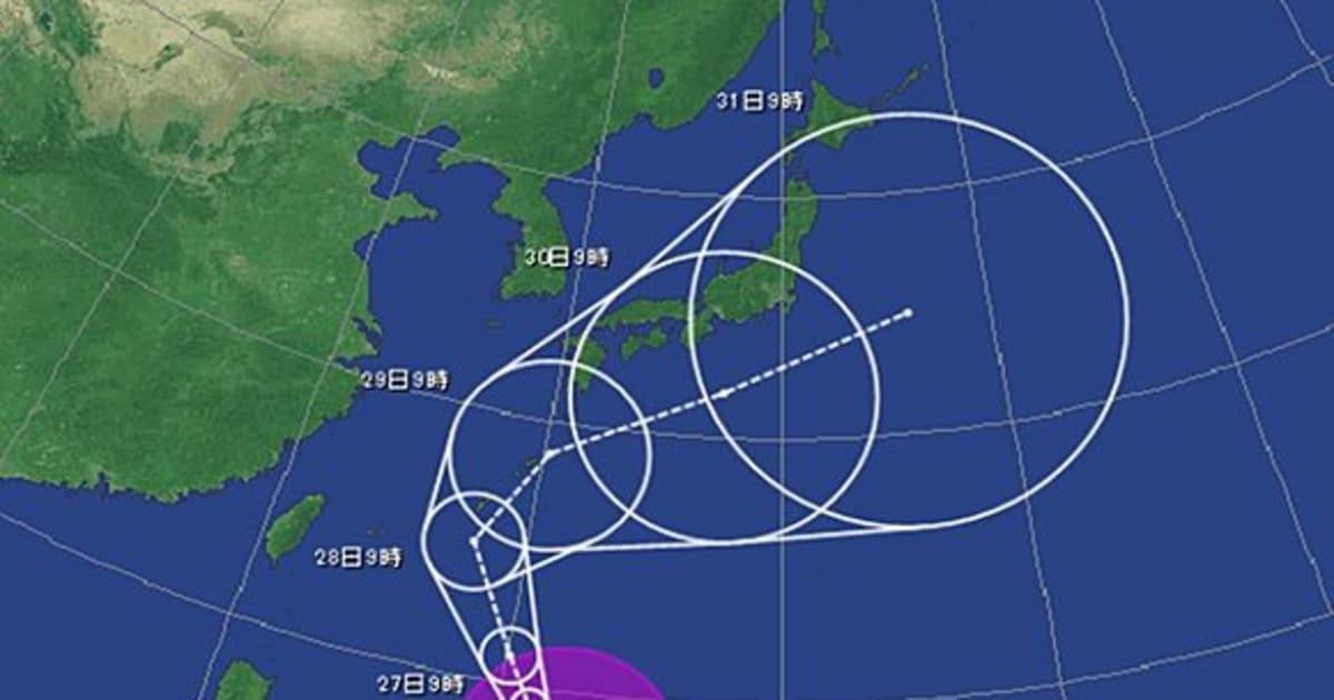 【台風22号】28日に沖縄へ接近し大荒れ、西日本から東日本に接近するのはいつ?