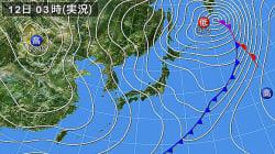 12日は全国的に真冬の寒さ、風も強まる 北陸では再び大雪のおそれ