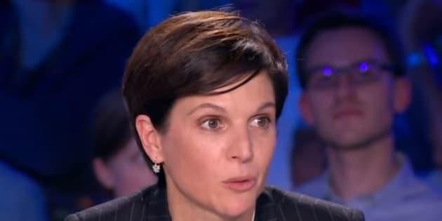 """Sandrine Rousseau sur le plateau d'""""ONPC"""" le 30 septembre 2017."""