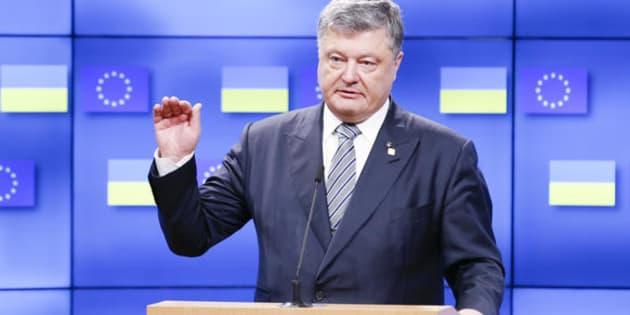 22/06/2017 Bruxelles. Il presidente del Consiglio europeo incontra il presidente ucraino Petro Poroshenko a margine del summit europeo