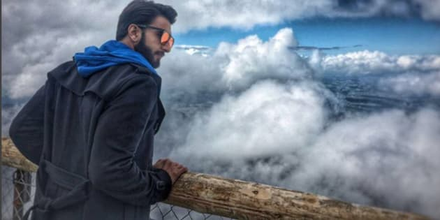 Ranveer Singh vacationing in Switzerland.