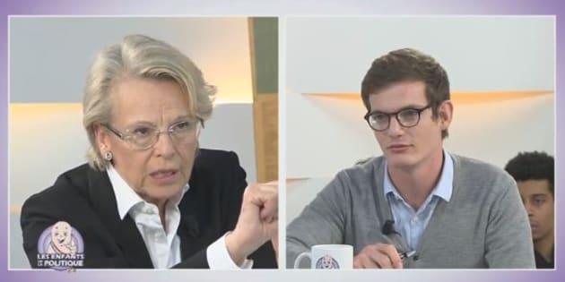 Michèle Alliot-Marie questionnée sur le plateau des Enfants de la Politique.