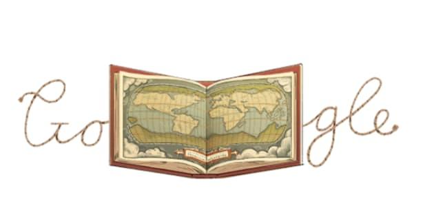 Abraham Ortelius, inventeur du premier Atlas a son propre Doodle