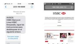 El mensaje falso de HSBC enviado por defraudadores a usuarios