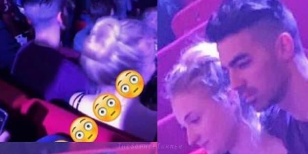 Sophie Turner et Joe Jonas étaient très proches lors d'un concert à Rotterdam.