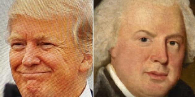 Google trouve le tableau célèbre auquel vous ressemblez. Pour Donald Trump, c'est au compositeur anglais William Shield.