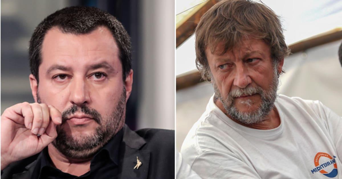 """Matteo Salvini attacca Luca Casarini: """"Ecco chi è il pluripregiudicato che guida la Mare Jonio"""""""
