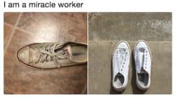 El truco de limpieza que devolverá a tus zapatillas blancas a la