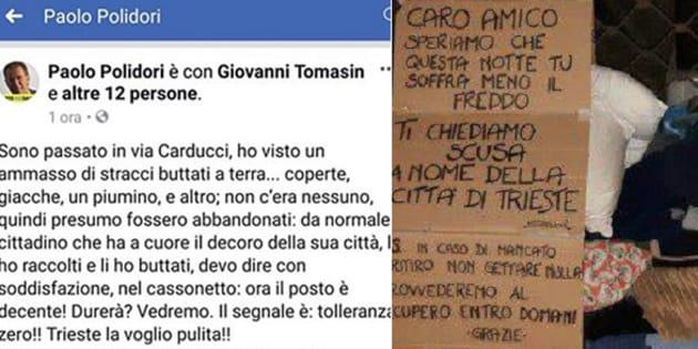 Il post di Polidori - il gesto di solidarietà dei cittadini di Trieste