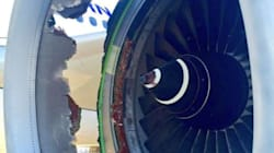Ce trou dans la carlingue de l'avion laisse deviner la frayeur des