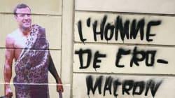 Le street artist Combo a fait d'Emmanuel Macron sa nouvelle