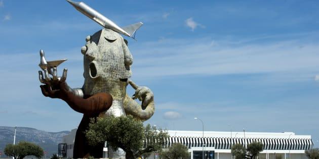 El aeropuerto de Castellón, fantasma durante años, uno de los ejemplos de construcciones mal planteadas.                .        .     .        (Photo credit should read JOSE JORDAN/AFP/Getty Images)