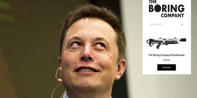 Et si le lance-flammes imaginé par Elon Musk était vraiment mis en vente?