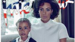 Kim Kardashian pose en First Lady avec sa fille pour le magazine