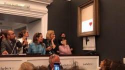 Cette œuvre de Banksy s'est auto-détruite juste après avoir été vendue aux enchères à plus d'un