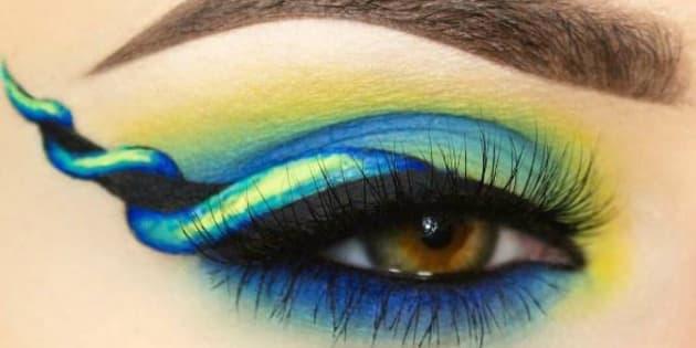 """Le """"unicorn-eyeliner"""" nécessite un peu d'imagination."""