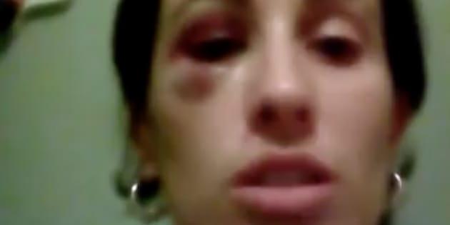 La educadora Daliana Ramírez, en una captura del vídeo que ha difundido por Facebook.